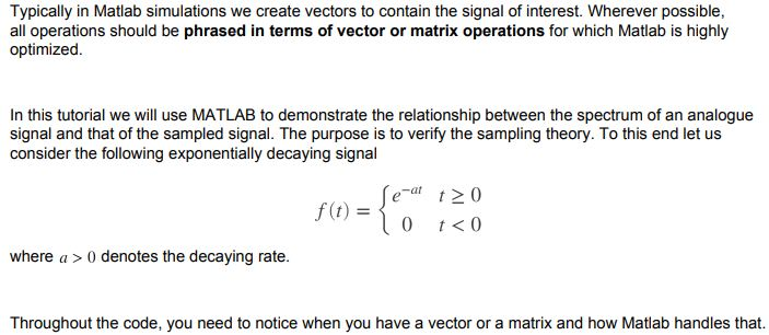 typically in matlab simulation