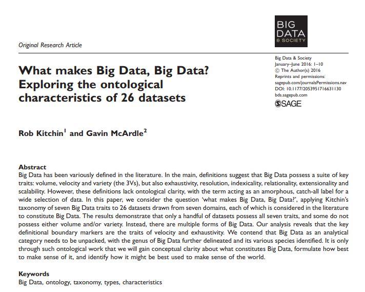 What makes Big Data Big Data