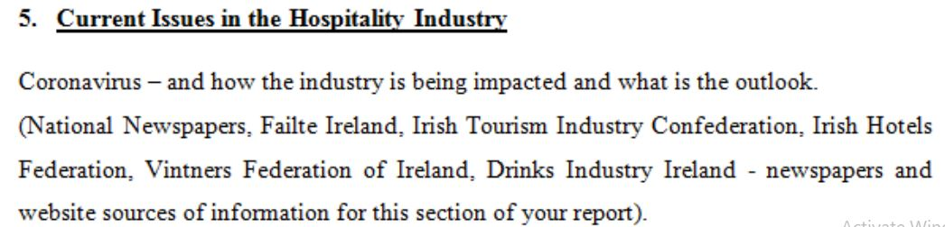 You have recently been appointed as a Food and Beverage supervisor of a new 4-star hotel in Athlone
