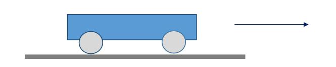 A heavy duty Mass slides within tracks on 4 rollers
