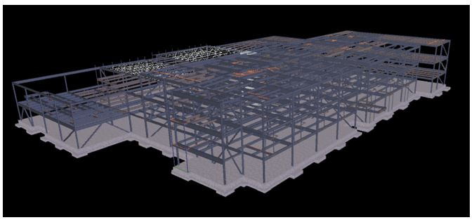 The structure of the building will be steel frame with hollow core precast concrete upper floors.